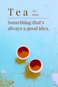 Tea Quote Poster