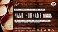 Tea Shop Business Card Template Visitkort