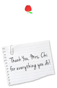 Teacher's Appreciation Card Half Page Wide template