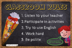Teacher's Classroom Rules Poster Template
