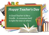 Teacher's day Postcard template