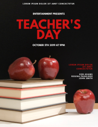 Teacher's day flyer design Template
