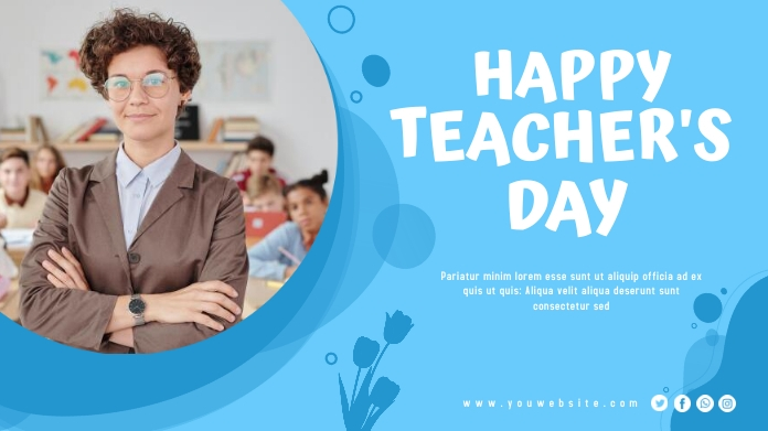 Teacher's Day Twitter Post Design template