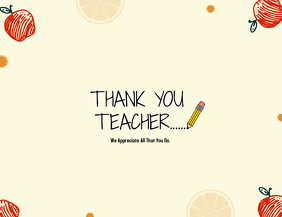 Teacher's Thank you Card template