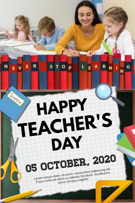 teacher, teacher's day, world teacher's day Poster template