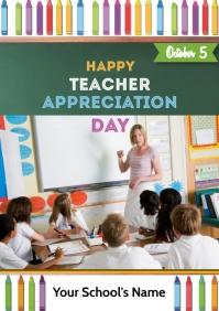 teacher app day A5 template