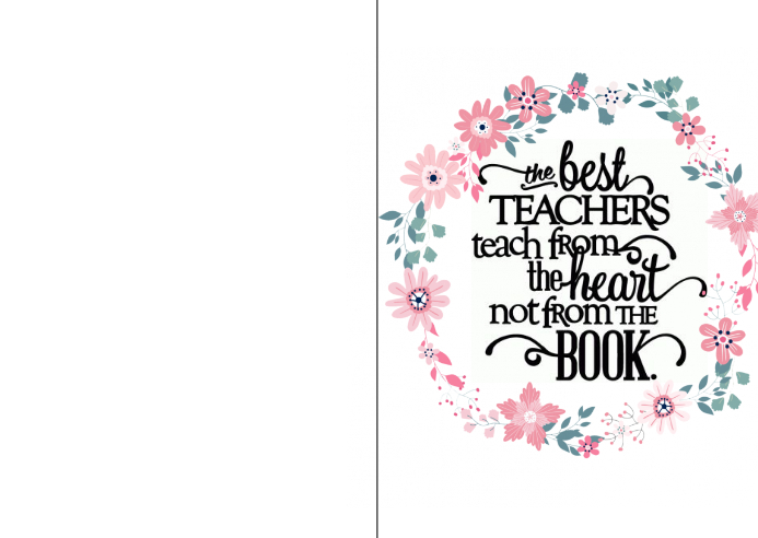 teacher appreciation card Kartu Pos template