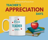 Teacher appreciation day,teacher's day Persegi Panjang Besar template