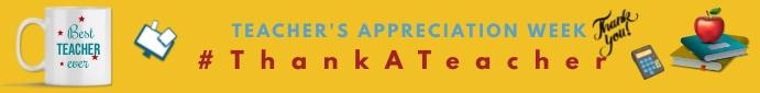 Teacher appreciation day,teacher's day Leaderboard template
