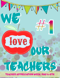 Teacher Appreciation Flyer (US Letter) template