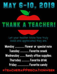 Teacher Appreciation Flyer