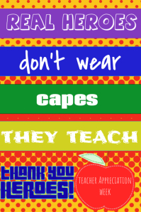 Teacher Appreciation- Super Hero Affiche template