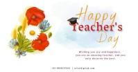 teacher day delt Facebook-billede template