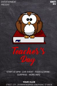 Teacher day event flyer template
