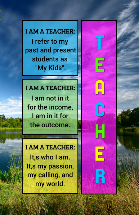 Teacher Tabloid template