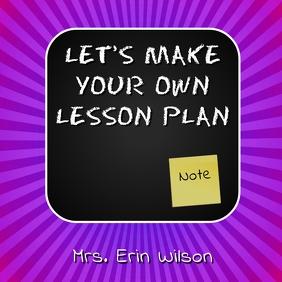 TEACHER LESSON PLAN CHALK BOARD FLYER Instagram Post template