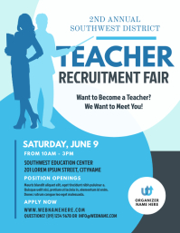 Teacher Recruitment Event Flyer template