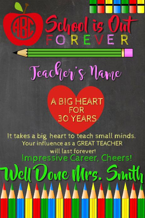Teacher Retirement Thanks