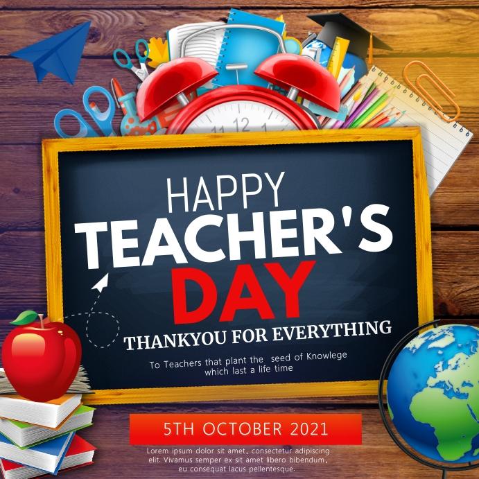 teachers appreciation day Square (1:1) template