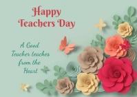 Teachers day Postkarte template