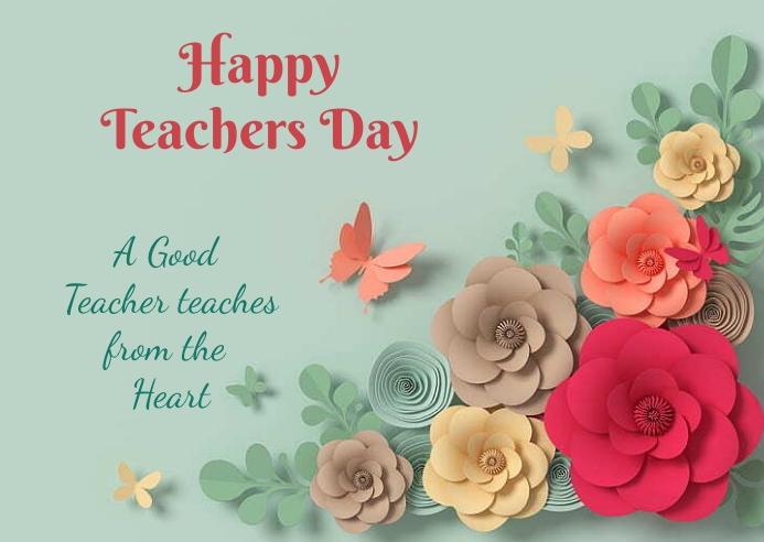 Teachers day 明信片 template