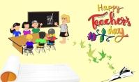 Teachers Day Tag template