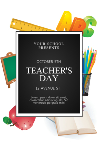 Teachers day flyer Template