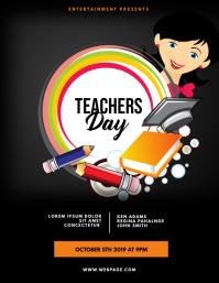 Teachers day School Event Flyer