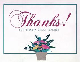 Teachers Day Thank You Card
