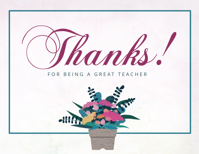teachers day thank you card template postermywall