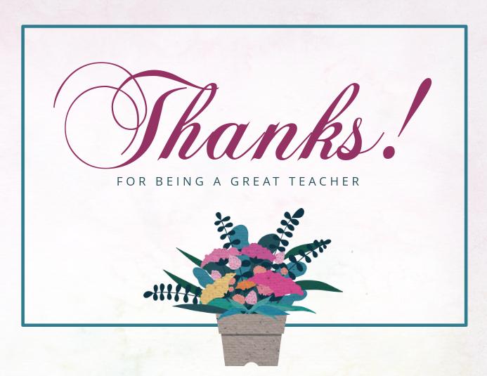 Teachers day thank you card template postermywall teachers day thank you card m4hsunfo