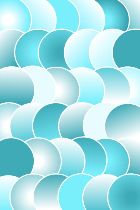 Teal Circles Plain
