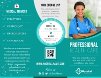 Teal Medical Trifold Brochure Pamflet (Letter AS) template