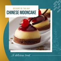 Teal Restaurant Dessert Instagram Image