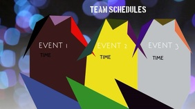 Team Schedule Digitalt display (16:9) template