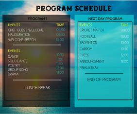 Team Schedule สามเหลี่ยมขนาดกลาง template