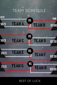 Team Schedule Poster template