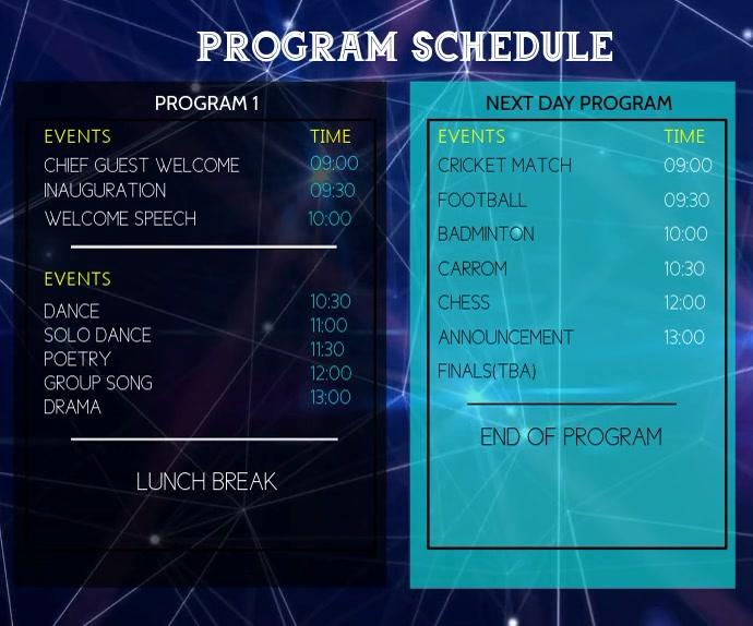 Team Schedule