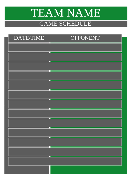 team schedule template postermywall
