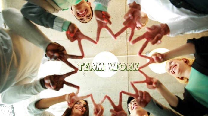 Team Work ภาพปก YouTube Channel template