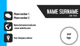 Tech Business card Визитная карточка template