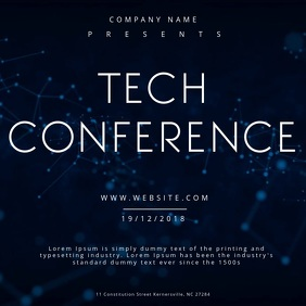Tech Conference Motion poster