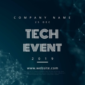 Tech Event Motion Poster