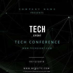 Tech Event Poster Motion