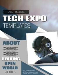 TECH EXPO EVENT FLYER POSTER TEMPLATE
