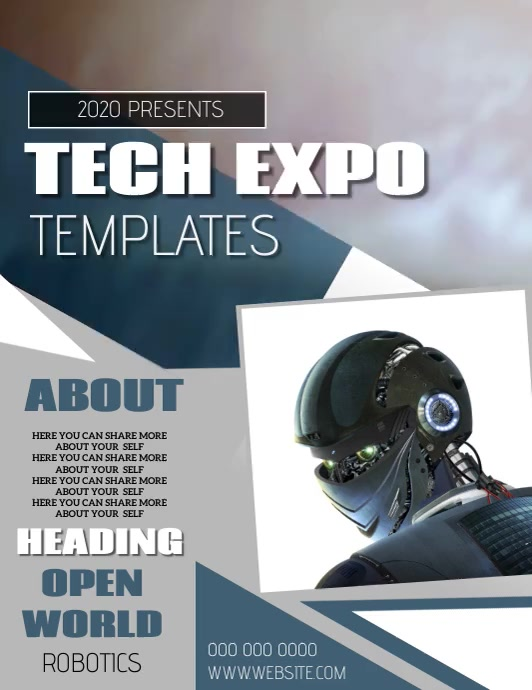 TECH EXPO EVENT FLYER POSTER TEMPLATE Pamflet (VSA Brief)
