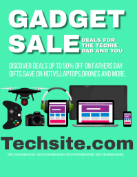 tech shop store Flyer ad Template