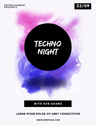 Techno Abstract Party Flyer Template