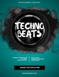 Techno Beats Flyer Template