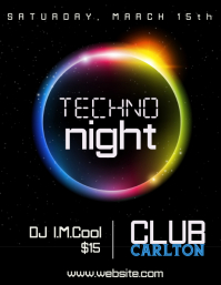 Techno Club Flyer